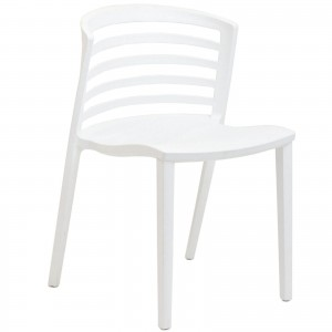 Curvy Dining Side Chair, White by Modway Furniture