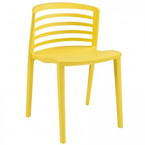 Curvy Dining Side Chair, Yellow by Modway Furniture