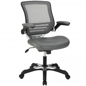 Edge Vinyl Office Chair, Gray by Modway Furniture