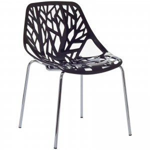 Stencil Dining Side Chair, Black by Modway Furniture