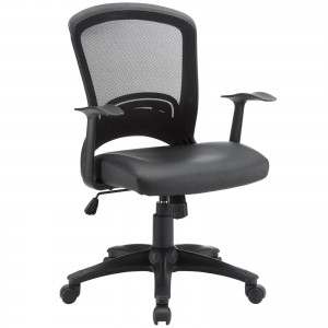 Pulse Vinyl Office Chair, Black by Modway Furniture