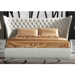 Miami Eco-Leather Platform Bed, Queen Size