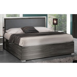 Oxford Wood Veneer/Ecoleather Platform Bed