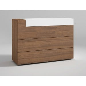 Mar Wood Veneer Single Dresser