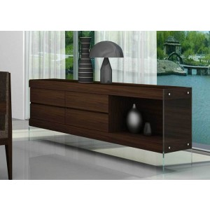 ✅ Float Modern Wood/Glass Buffet by J&M Furniture