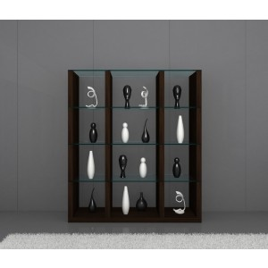 Float Modern Wood/Glass Wall Unit by J&M Furniture