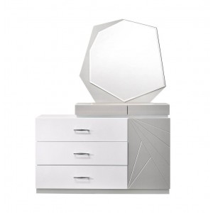 Florence Modern Lacquer Dresser with Mirror