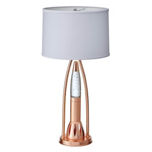 Lenora Metal/Fabric Table Lamp by Homelegance