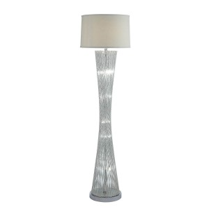 Crocus Metal/Fabric Floor Lamp by Homelegance