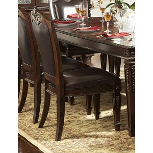 Palace Classic Leather/Wood Dining Chair by Homelegance