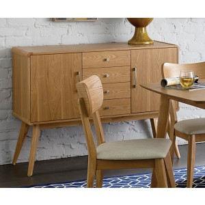 Anika Mid-Century Modern Wood Buffet by Homelegance