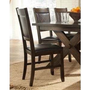 Roy Classic Vinyl/Wood Dining Chair by Homelegancee