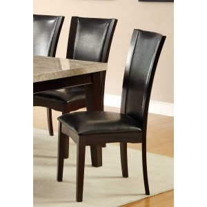 Hahn Transitional Vinyl/Wood Dining Chair by Homelegance