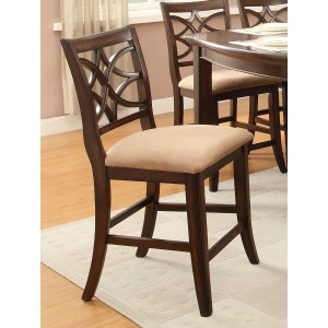 Keegan Classic Fabric/Wood Counter Dining Chair by Homelegance