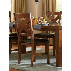 Silverton Transitional Vinyl/Wood Dining Chair by Homelegance
