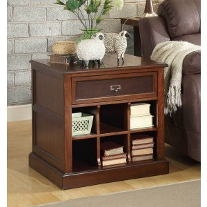 Friedrich Wood End Table by Homelegance