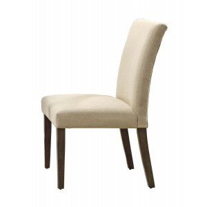 Anacortes Rustic Fabric/Wood Dining Chair by Homelegance