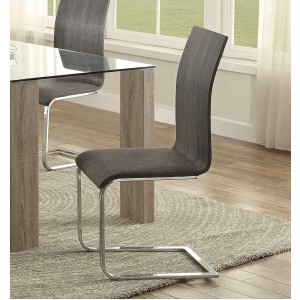 Zeba Modern Fabric/Chrome Dining Chair by Homelegance