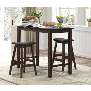 Wisdom Modern Counter Dining Room Set (Table + 2 Chairs) by Homelegance