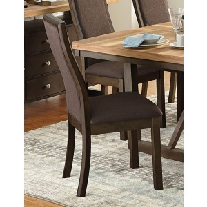Compson Transitional Fabric/Wood Dining Chair by Homelegance