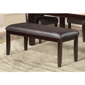 Festus Modern Vinyl/Wood Dining Bench by Homelegance