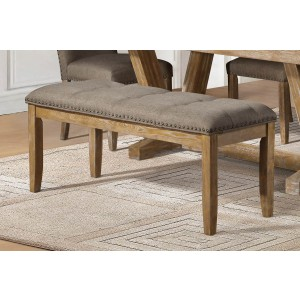Jemez Rustic Fabric/Wood Dining Bench by Homelegance