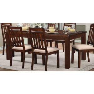 Santos Classic Rectangular Wood Extendable Dining Table by Homelegance