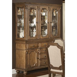 Eastover Classic China Glass/Wood Cabinet by Homelegance