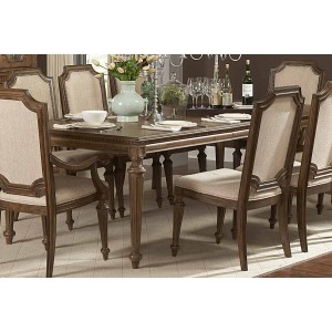 Eastover Classic Rectangle Wood Extendable Dining Table by Homelegance