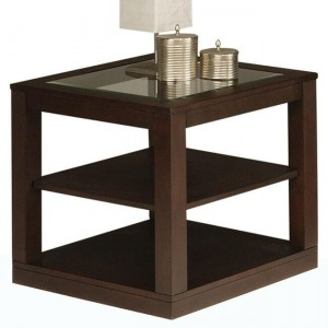 Frisco Glass End Table by Homelegance