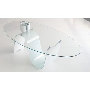 Modern Infinity Fixed Oval Dining Table