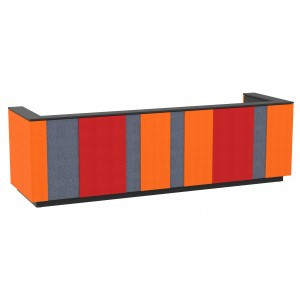 "Domino 142"" Reception Desk, Color Combination 3"