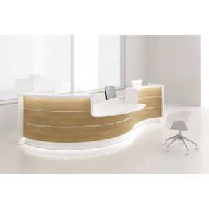 VALDE Curved Reception Desk w/Counter Top