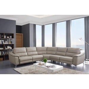 951 Leather/Eco-Leather Sectional by ESF Furniture