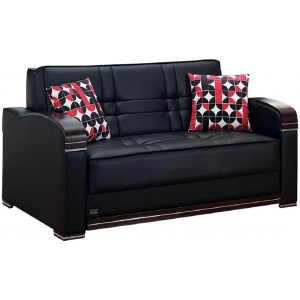 Westchester Bonded Leather Storage Loveseat