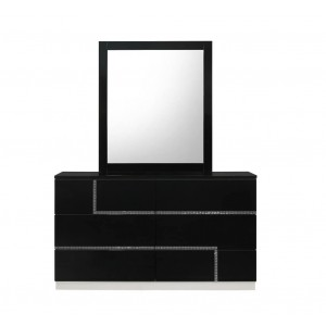 Lucca Modern Lacquer Dresser with Mirror