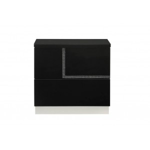 Lucca Modern Lacquer Left Nightstand