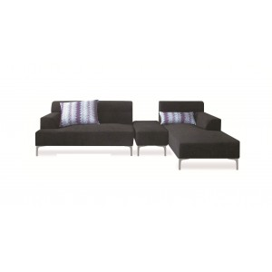 Manhattan Sectional w/Ottoman, Right Arm Chaise Facing