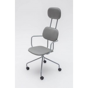New School N03K Office Chair w/Castors & Headrest
