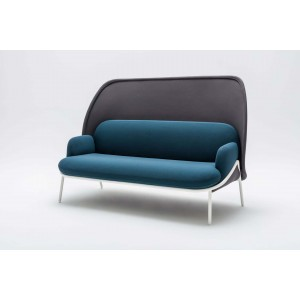 Mesh Office Sofa w/Medium Shield