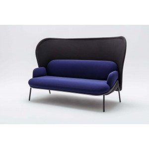 Mesh Office Sofa w/Large Shield