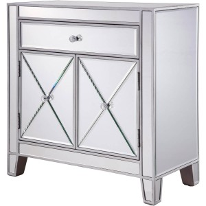 Contempo 1 Drawer 2 Doors Cabinet