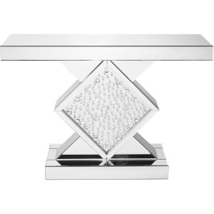 "Modern 47"" Rectangle Crystal Console Table"