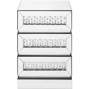 Modern Crystal 3 Drawers End Table, Composition 1