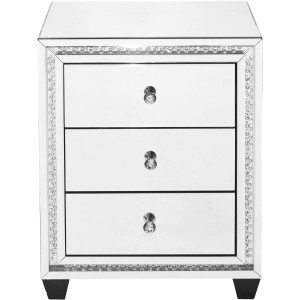 Modern Crystal 3 Drawers End Table, Composition 2