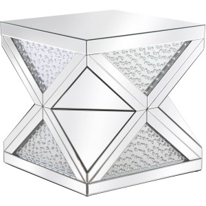 "Modern 23"" Crystal End Table"