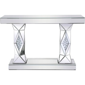 """Modern 47"""" Rectangle Crystal Console Table"""