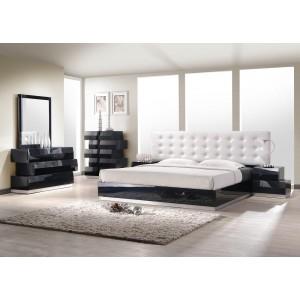 Milan Bedroom Set, Black by J&M Furniture