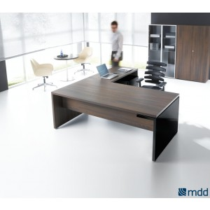 Mito Executive Composition 2, Dark Sycamore by MDD Office Furniture