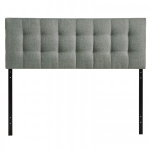 Lily Full Fabric Headboard, Gray by Modway Furniture